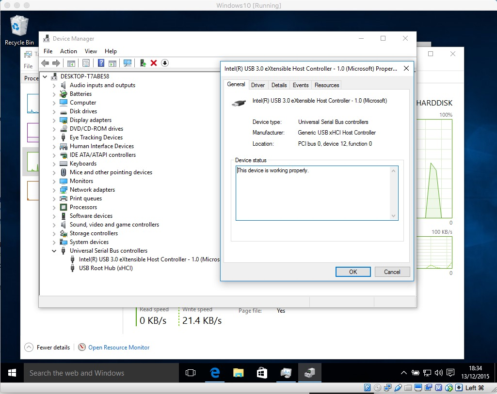 Dodgy connection on OSX host, Windows10 (VirtualBox guest